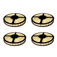 SuperDeals Imported 5 Meter LED Strip Warm Yellow With Adapter (Set Of 4)