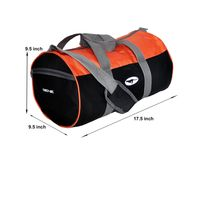 Gym Bag - -Round shape (MN-0286-ORG-BLK)