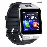 Kwitech™ Bluetooth 3.0 Smart Watch DZ09 with SIM Slot & Camera For all Android Smart Phones & Apple iOS - Silver