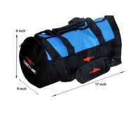 Gym Bag - -Round shape (MG-1015-BLU-BLK)