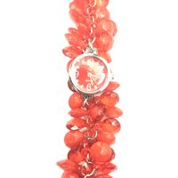 Red Fancy Beaded Watches for Girls & Womens
