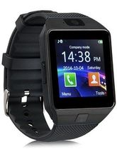 Fleejost Black Smart Watch With Camera And Sim Card Support