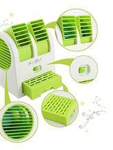 Fleejost USB Mini Fan & Portable Dual Bladeless Small Air-Conditioner