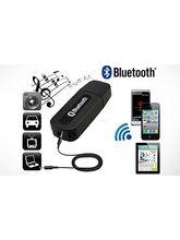 Fleejost Bluetooth Stereo Adapter Audio Receiver 3.5Mm Music Wireless Hifi Dongle Transmitter Usb Mp3 Speaker Car (Black)