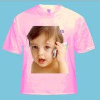 Personalized Photo T-shirts Round Neck Pink