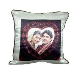 Personalized Photo Square Cushion with Pillow YashGifts. in