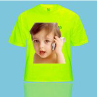 Personalized Photo T-shirts Round Neck Green