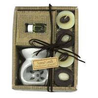 Chocolate tea-light candle set