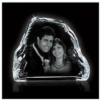 Personalized Photo engraved Crystal ice berg 2D
