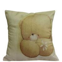 Cute Teddy Print Cushion