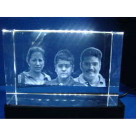 Personalized 2.5D Photo engraved Crystal Cube
