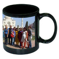 Black Photo mug customized image