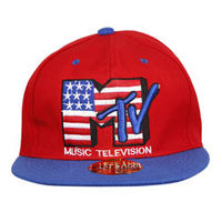 Capskart Snapback Fashion Cap with MTV Embroidery Red / Blue