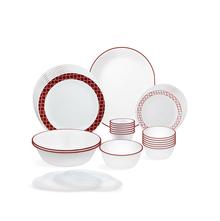 Corelle Livingware Crimson Trellis 30 Pcs Dinner set