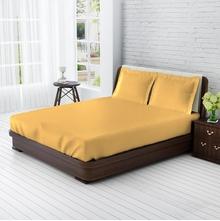 Tangerine Senso Naturals Honey Dew 100% Cotton King Xl Bedsheet 3 Pcs Set