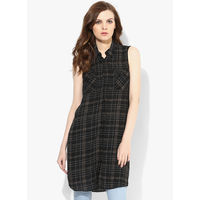Dorothy Perkins Sleeveless Tunic,  black, s