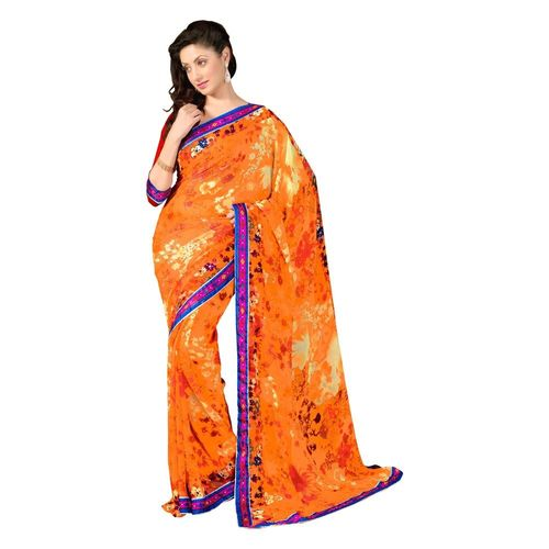 7 Colors Lifestyle Faux Georgette Floral Printed Saree - AAWSR549ASUHM