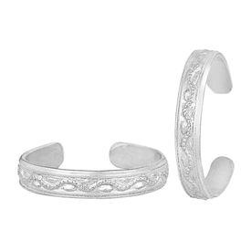 Attractive Plain Designer Silver Toe Ring-TRRD052
