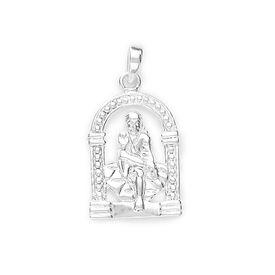 Divine Saibaba Silver Pendant-PD058