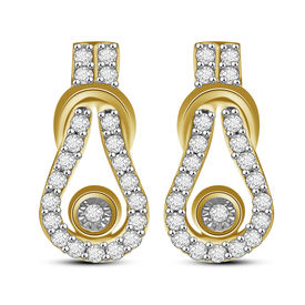 Diamond Earrings - AMPS0239ER, si - ijk, 14 kt