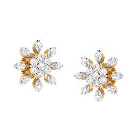 Delighting Blossom Diamond Studs-RS00178