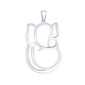 Beauteous Ganesh Sterling Silver Pendant-PD149