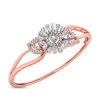 Floral Mesh Diamond Bracelet- RBR00110, si-jk, 18 kt