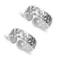 Loopy Cutwork Silver Toe Ring-TR98