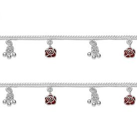 Charming Rose Charms Baby Anklet-ANK047