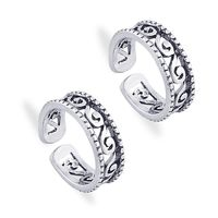 Enthralling Cutwork Toe Ring-TR411