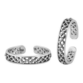 Foxy Cutwork Sterling Silver Toe Ring-TR394