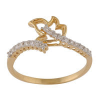 Graceful Diamond Ring - BAR2112SJ, si - ijk, 12, 18 kt