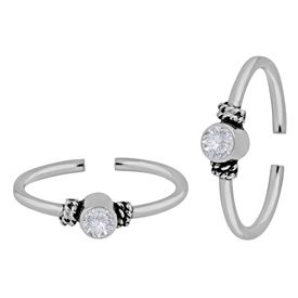 Radiance White Silver Toe Ring-TRMX044