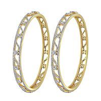 Cutout Diamond Bangle-RBA0037, vvs-gh, 18 kt