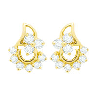 Diamond Earrings - BAER475, si - ijk, 18 kt