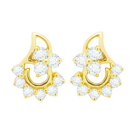 Diamond Earrings - BAER475, si - ijk, 14 kt
