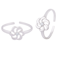 Cluster Silver Toe Rings-TRMX117