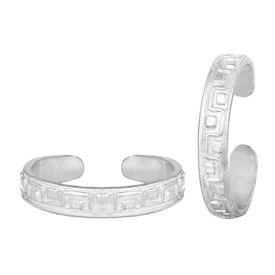 Pleasing Designer Sterling Silver Toe Ring-TRRD045