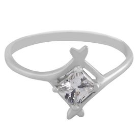 Fabulous White Zircon Silver Finger Ring-FRL108