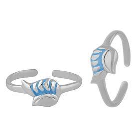 Engaging Enamel Sterling Silver Toe Ring-TRMX091