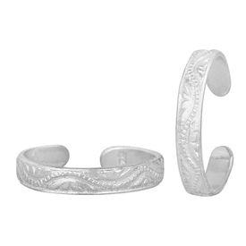 Attractive Plain Designer Silver Toe Ring-TRRD051