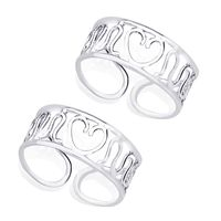 Heart Silver Toe Ring-TR266