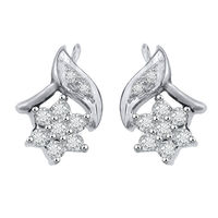 Diamond Earrings - GUER12, si - ijk, 18 kt