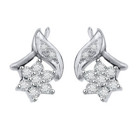 Diamond Earrings - GUER12, si - ijk, 14 kt