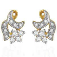 Classy Diamond Earrings- BAER0052, si - ijk, 18 kt