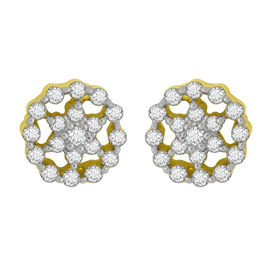 Diamond Earrings - GUER0253, si - ijk, 14 kt