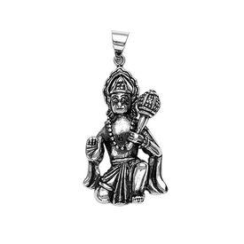 Lord Hanuman Sterling Silver Pendant-PD046