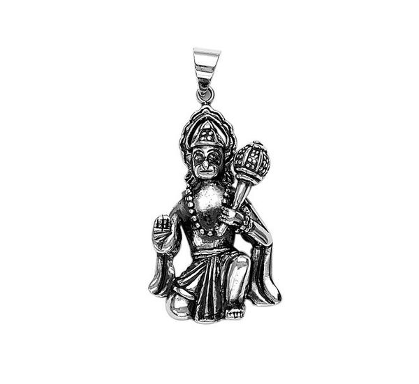 Lord hanuman sterling silver pendant silver pendant by lord hanuman sterling silver pendant pd046 aloadofball Image collections