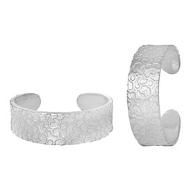 Iconic Plain Comfortable Silver Toe Ring-TRRD006