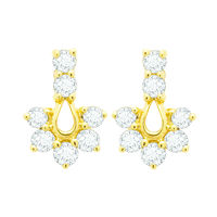 Royal Diamond Earrings- BAER465, si - ijk, 18 kt